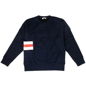 Cotton Fire Crew Shirt - Navy Blue