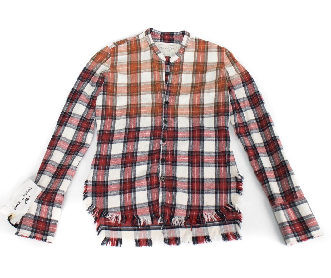 Beach Faded Mountaineer Flannel Studio Casual Shirt - Red