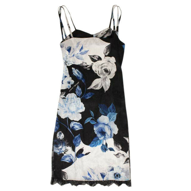 'Rose Print' Slip Dress - Multicolored