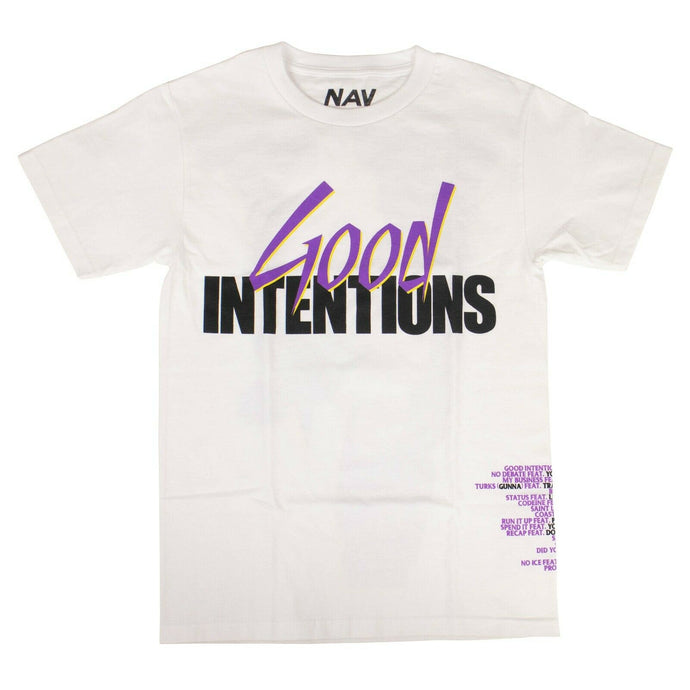 VLONE x NAV Cotton 'Doves' Short Sleeve T-Shirt - White/Purple