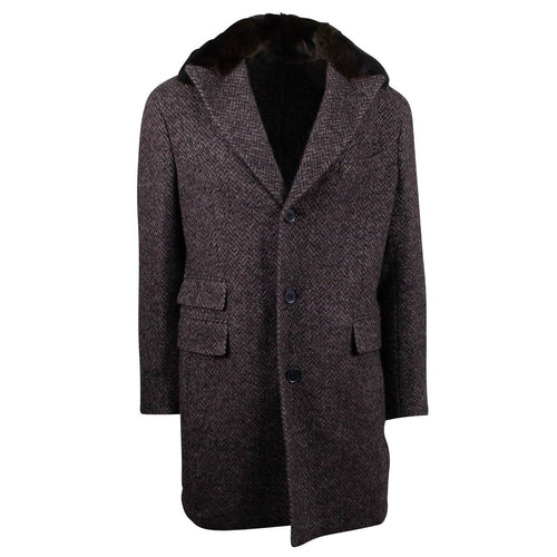 Brown Twill Wool/Alpaca Overcoat