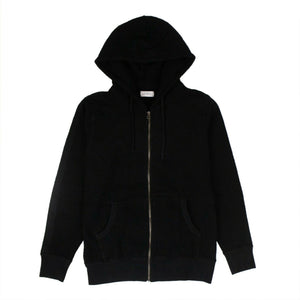Cotton JP Tape Zip Hooded Sweatshirt - Black