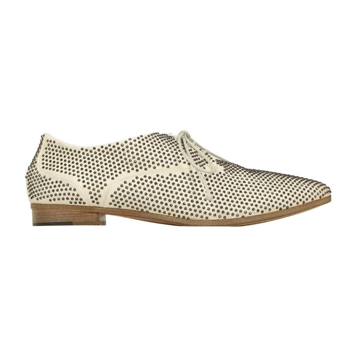 Colteldino Sheep Skin Leather Flats - White