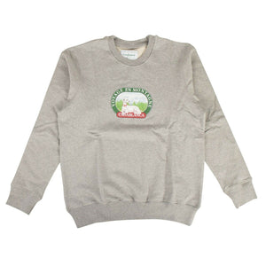'Voyage En Montagne' Dog Printed Sweatshirt - Gray