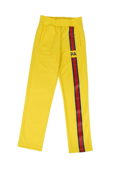 Polyester 'Monogram' Track Pants - Yellow