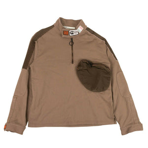 Parachute Half Zip Sweatshirt - Brown