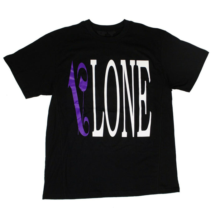 VLONE x PALM ANGELS Logo Short Sleeves T-Shirt - Black/Purple