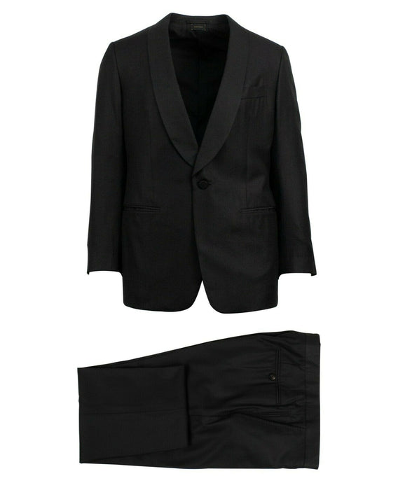 Wool Blend Suit - Navy