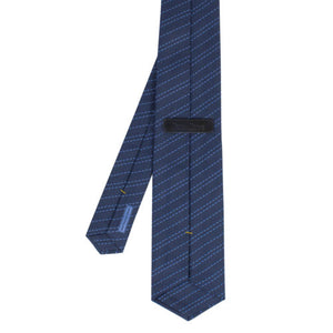 Silk Striped Neck Tie - Blue