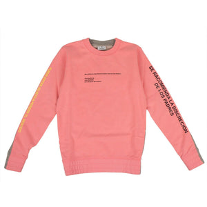 Cotton Sweatshirt - Pink And Gray