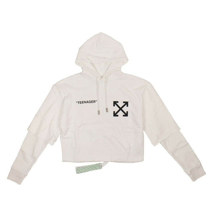 Flamed Bart Hooded Sweatshirt - White