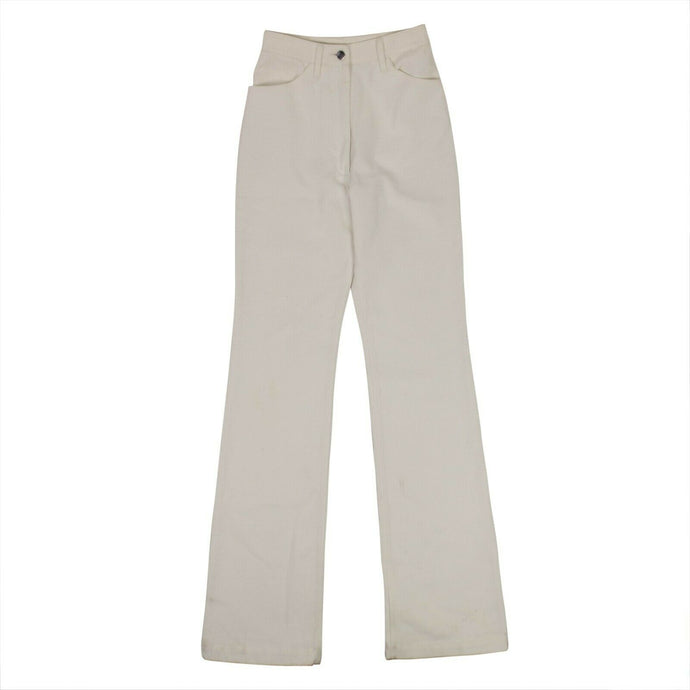 Denim High Waist Pants - Optic White