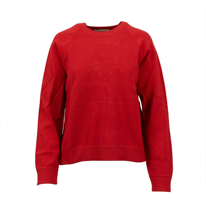 Flare Back Crew Sweater Top - Red