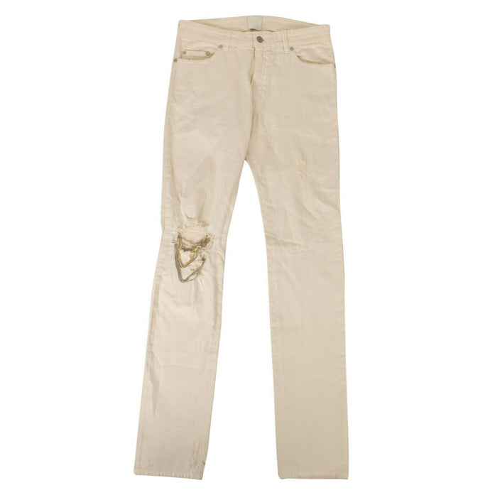 Distressed Johnny Jeans - Ivory