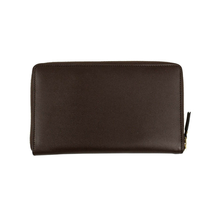 Leather Travel Organizer Wallet - Brown