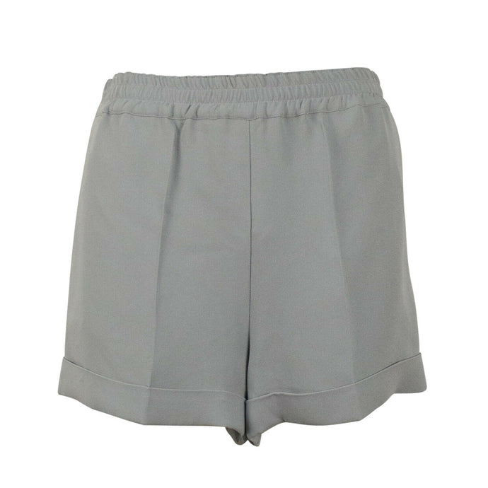 Silk Cuffed Shorts - Gray