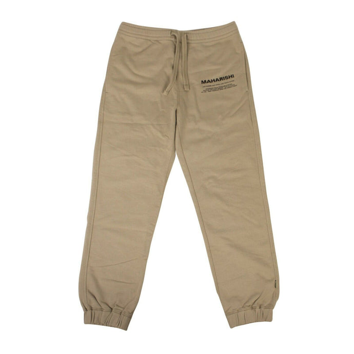 Organic Cotton Miltype Track Pants - Tan