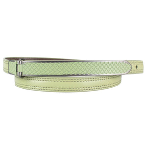 Stitched Leather Belt - Light Green
