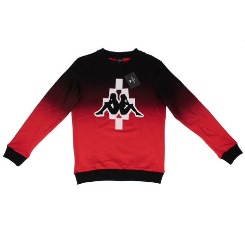 Kappa Big Logo Crew Neck Sweater - Black / Red