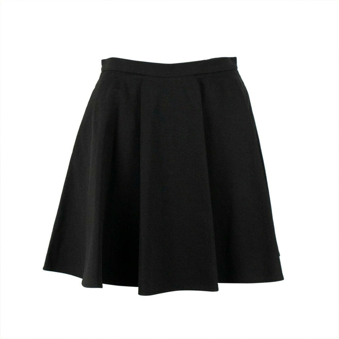 A-Line Pleated Mini Skirt - Black