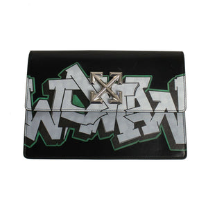 Leather Graffiti 'Jitney1.0' Hand Bag - Black