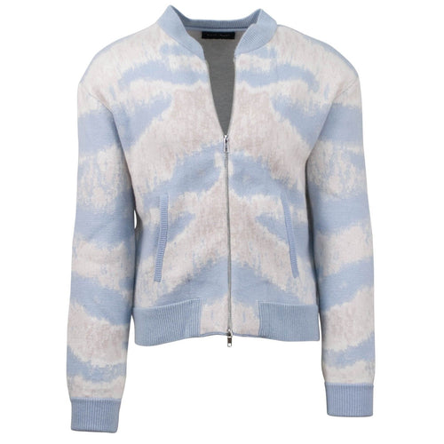 Tiger Striped Bomber Jacket - Blue