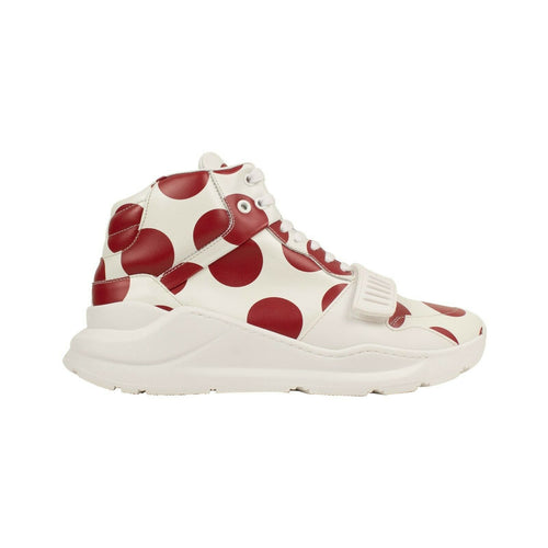 'Regis' Spot Print High-Top Sneakers -White