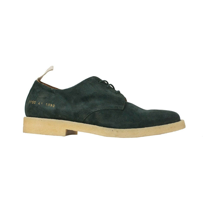 Suede 'Cadet' Derby Low-Top Shoes - Green