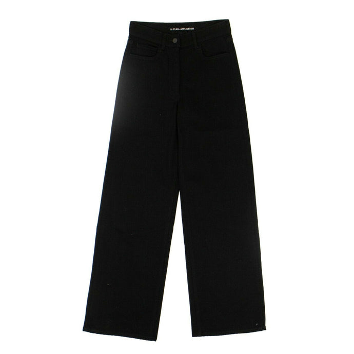 Denim Wide Leg Pants - Black