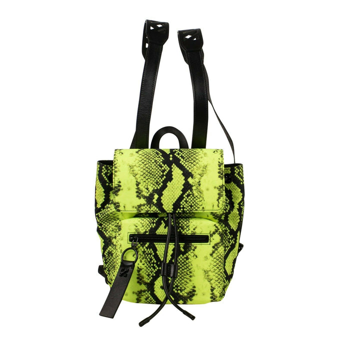 Nylon Snake Print Mini Backpack - Fluorescent