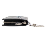 Diorissimo Black Leather Zip Around Wallet Clutch