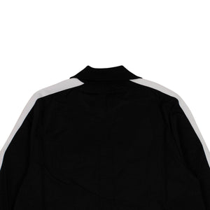 Maxi Length Logo Zip-Up Track Jacket - Black