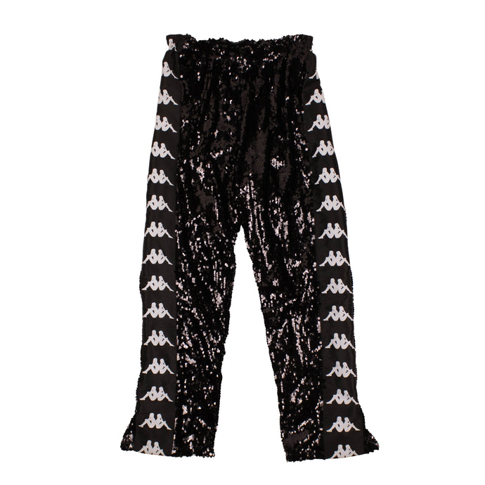 FAITH CONNEXION x KAPPA Sequin Side Logo Split Pants - Black