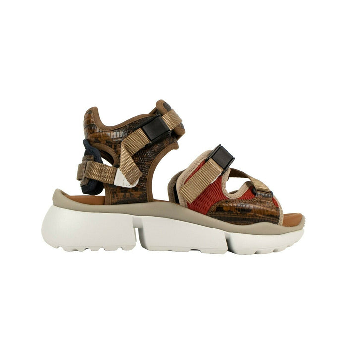 Python Print 'Sonnie' Sandals Sneakers - Brown