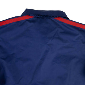 'Logo' Zip Up Jacket - Blue and Red