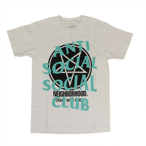 ANTI SOCIAL SOCIAL CLUB X NEIGHBORHOOD 'Filth Fury' T-Shirt - White