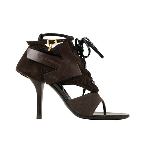 'Heeled Runner' Shoes - Brown