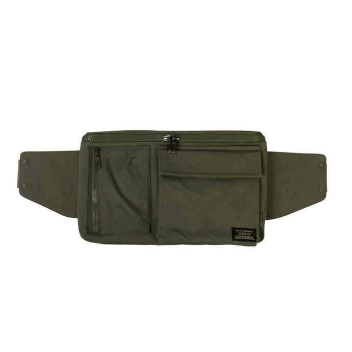 Cotton Waist Bag - Olive Green