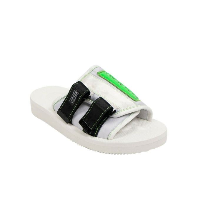 PALM ANGELS x SUICOKE Logo Patch Slider Sandals - White