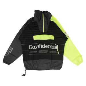 Confidential Panel Windbreaker Jacket - Black