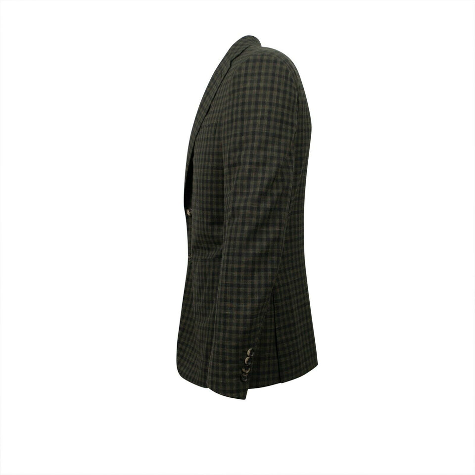 Drop 8 Check Two Button Wool Blend Sport Coat - Green