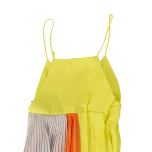 Crepon Slip Layers Dress - Yellow