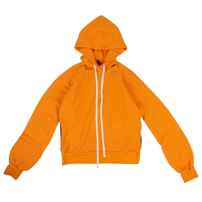 Cut Out Shoulder Hooded Sweatshirt - Orange