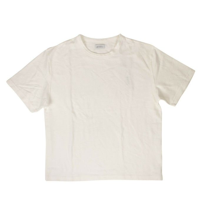 Cotton Elliot Jacquard Short Sleeve T-Shirt - White