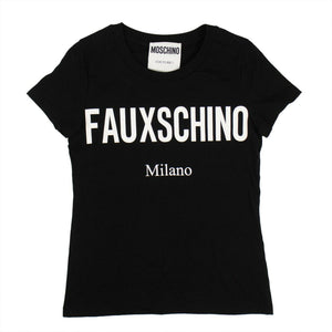 Fauxschino Graphic Short Sleeve T-Shirt - Black