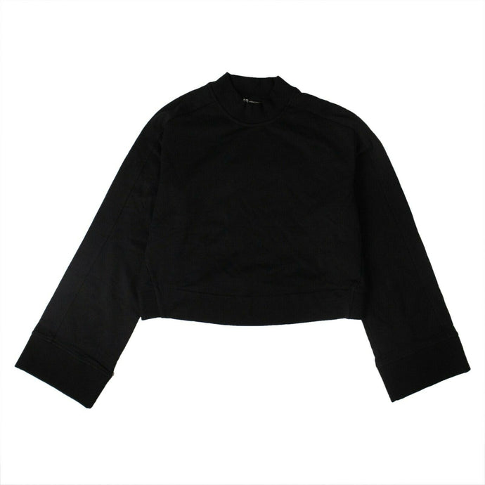 Cotton Stacked Logo High Neck Sweatshirt - Black