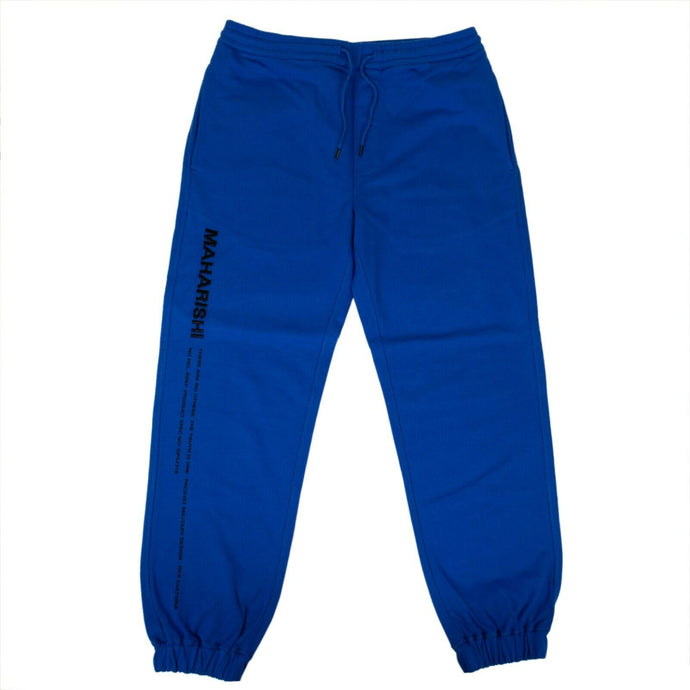 Organic Cotton Miltype Track Pants - Electric Blue