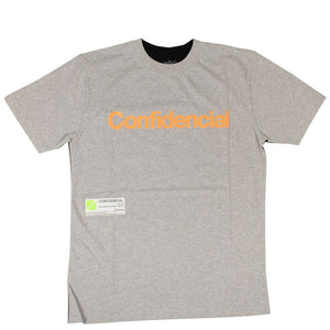 "Cotton ""Confidential"" T-Shirt - Gray/Black"