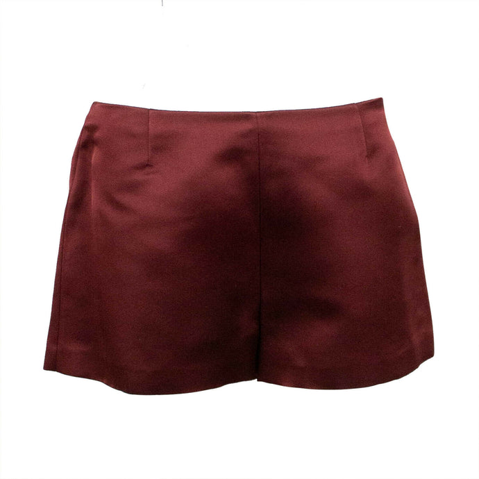 Silk Shorts - Burgundy
