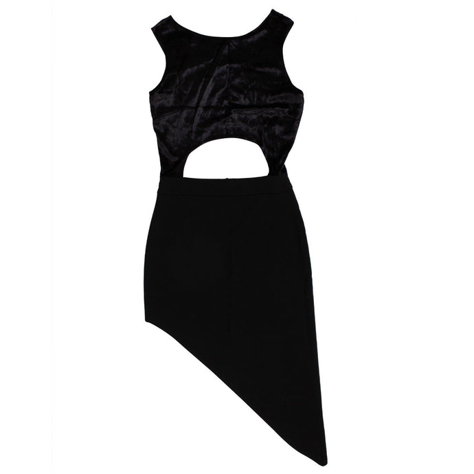 Galaxy Cut Out Dress - Black